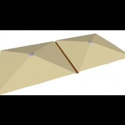 Regengutter PVC 500cm Taupe