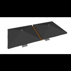 Raingutter PVC 400cm Taupe