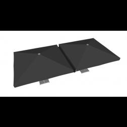 Raingutter PVC 400cm Black