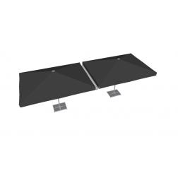 Raingutter PVC 300cm Grey