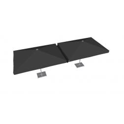 Raingutter PVC 300cm Black