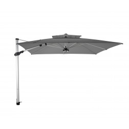 Fratello Pro 2.0 cantilever parasol Platinum Grey (300*300cm)