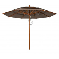 Lasagna Pro parasol Taupe (ø330cm)